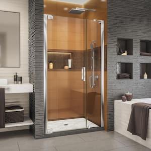 Elegance-LS 38-3/4 in. to 40-3/4 in. W x 72 in. H Frameless Pivot Shower Door in Chrome