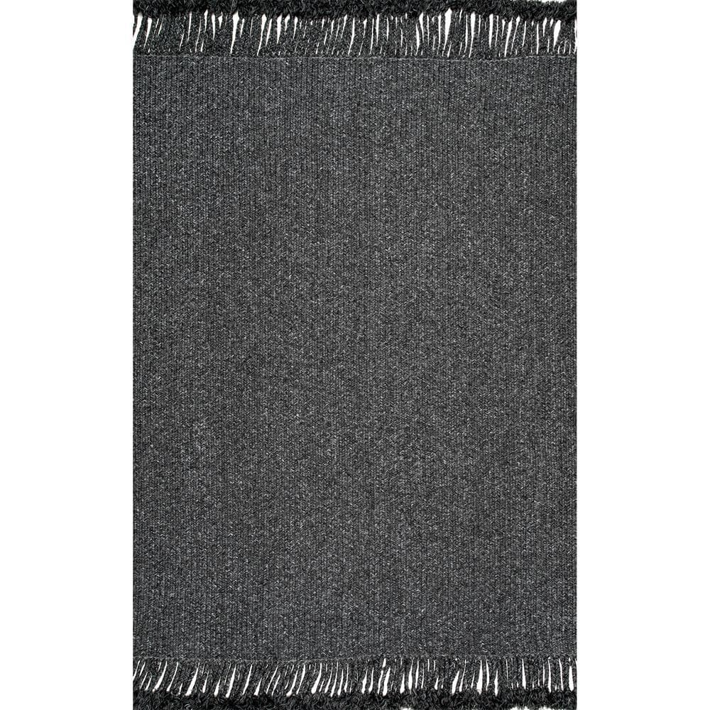 Nuloom Courtney Braided Charcoal 12 Ft X 15 Ft Indoor Outdoor Area Rug Hjfv11c 12015 The Home Depot