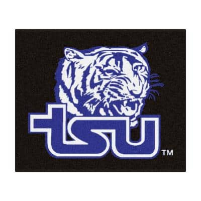 NCAA Tennessee State University Black 5 ft. x 8 ft. Indoor Tailgater Area Rug