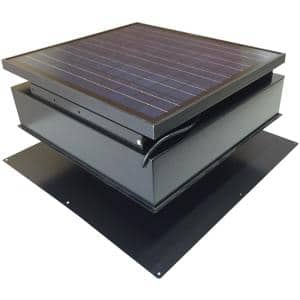 30-Watt 1550 CFM Gray Solar Powered Attic Fan