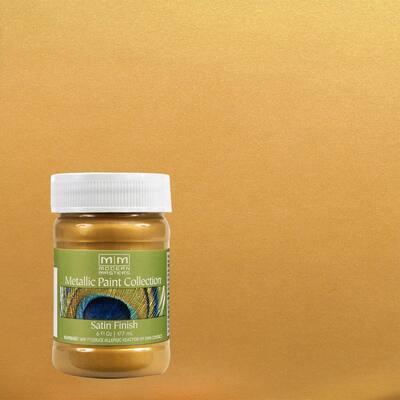 6 oz. Pharaoh's Gold Water-Based Satin Metallic Interior Paint