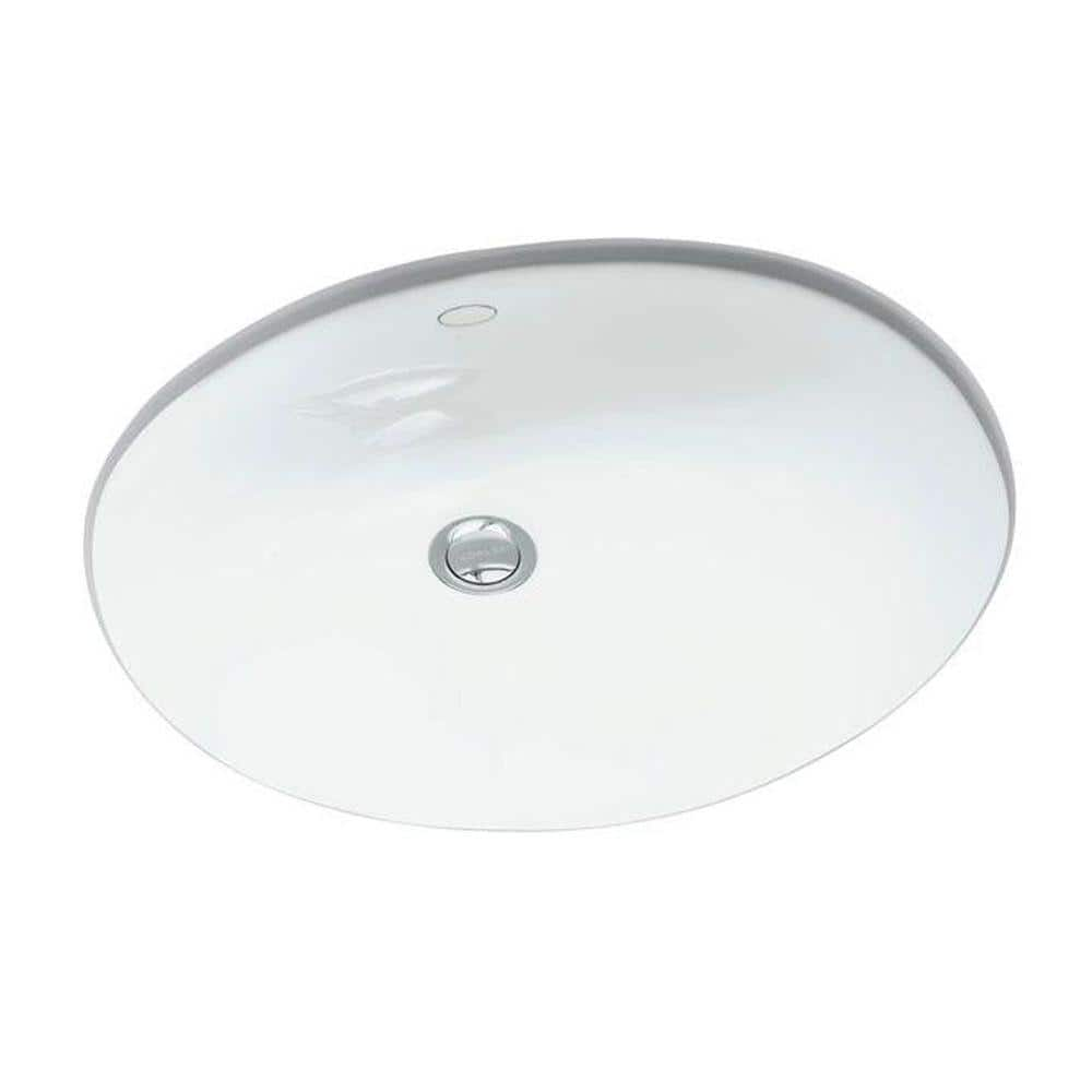 Kohler Caxton Vitreous China Undermount Bathroom Sink In White With Overflow Drain K R2210 0 The Home Depot