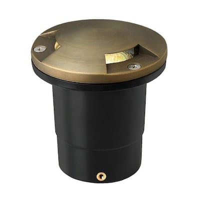 Low-Voltage 20-Watt Matte Bronze Hardy Island Directional Top Cast Brass Well Light