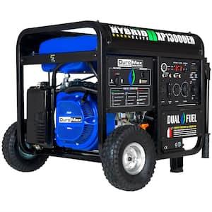 13000/10500-Watt Push Start Heavy-Duty Dual Fuel Powered Portable Generator Transfer Switch and Home Backup Ready