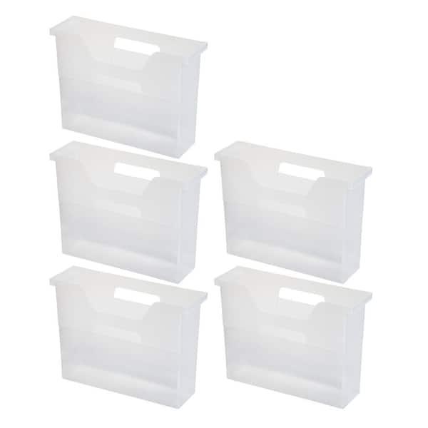 Iris Desktop File Box Small In Clear 5, Desktop File Storage Box