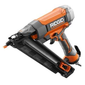 Pneumatic 15-Gauge 2-1/2 in. Angled Finish Nailer with CLEAN DRIVE Technology, Tool Bag, and Sample Nails