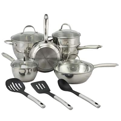 Ridgewell 13-Piece Stainless Steel Cookware Set