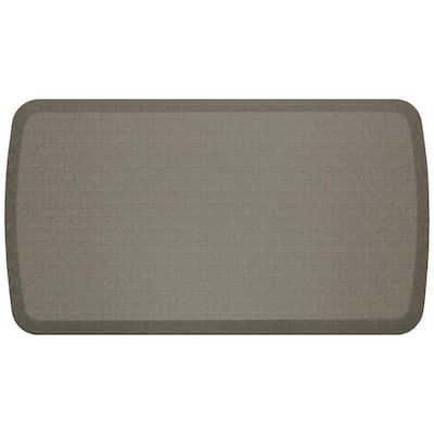 Elite Linen Granite Grey 20 in. x 36 in. Comfort Kitchen Mat
