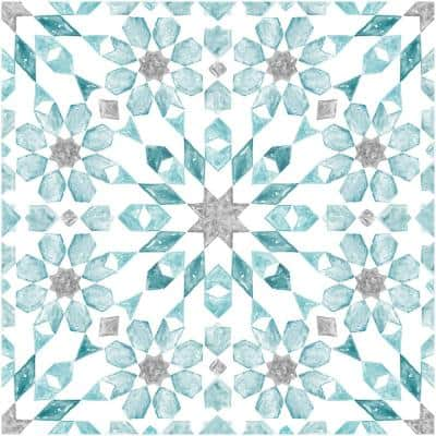 Take Home Sample - 6 in. W x 6 in. L Blue Radiance Peel and Stick Vinyl Tiles