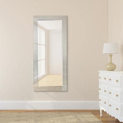 Medium Rectangle Clear Beveled Glass Modern Mirror (24 in. H x 54 in. W)