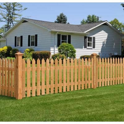 1/2 in. x 3-1/2 in. x 40-1/4 in. Western Red Cedar Pointed Top Fence Picket (18-Pack)