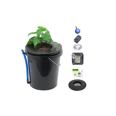 Black Bucket Deep Water Culture Hydroponic System