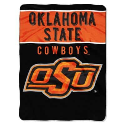Basic Oklahoma State University Polyester Twin Knitted Blanket
