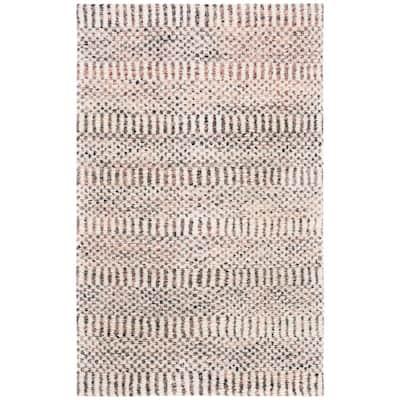 Casablanca Ivory/Pink 5 ft. x 8 ft. Geometric Area Rug