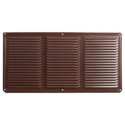 16 in. x 8 in. Aluminum Under Eave Soffit Vent in Brown (Carton of 36)
