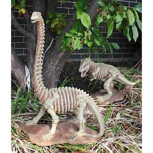 25 in. H Bad to the Bone Jurassic Brachiosaurus Dinosaur Statue