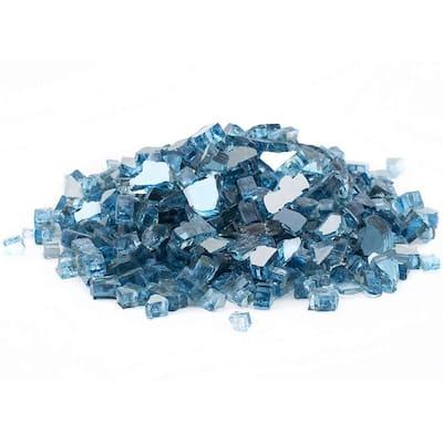 1/2 in. 20 lbs. Medium Sky Blue Reflective Fire Glass