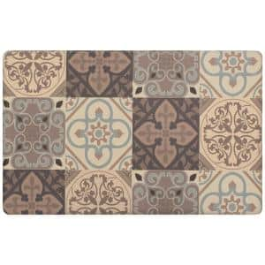 Kitchen Tile Collage 20 in. x 39 in. Anti-Fatigue Gelness Runner Kitchen Mat