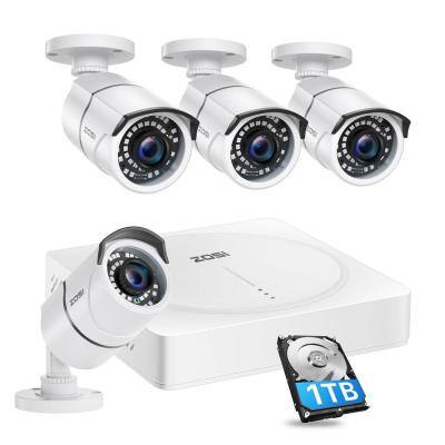 H.265+ 8-Channel Full 5MP 1TB DVR Security Camera System with 4 5MP Wired Bullet Cameras, 120 ft. Night Vision