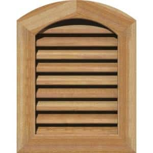 23'' x 35'' Diamond Rough Sawn Western Red Cedar Wood Paintable Gable Louver Vent Functional