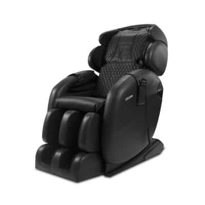 LM6800S Black Space-Saving Zero Gravity Full-Body Reclining Massage Chair with Bluetooth Speakers