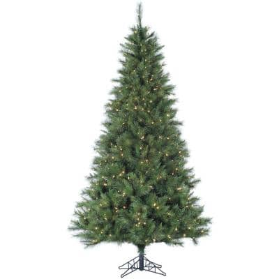 7.5 ft. Pre-Lit LED Canyon Pine Artificial Christmas Tree with 550 Clear Lights