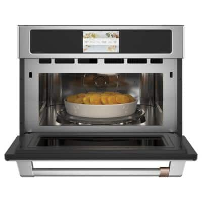 27 in. 1.7 cu. ft. Smart Electric Wall Oven and Microwave Combo with 120 Volt Advantium Technology in Stainless Steel