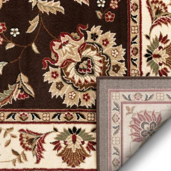 Well Woven Timeless Abbasi Brown Beige 4 Ft X 5 Ft Traditional French Country Area Rug 36074 The Home Depot