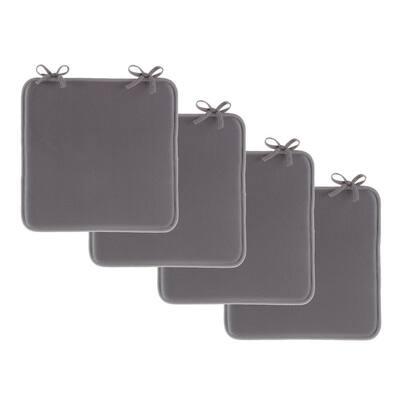 Dark Gray Foam Chair Pad (Set of 4)