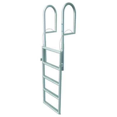 5 Step Standard Rung Lifting Aluminum Dock Ladder