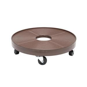 16 in. Espresso Round HDPE Plant Dolly/Caddy