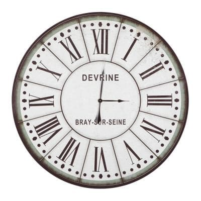Devrine Series Green & White Oversized Wall Clock