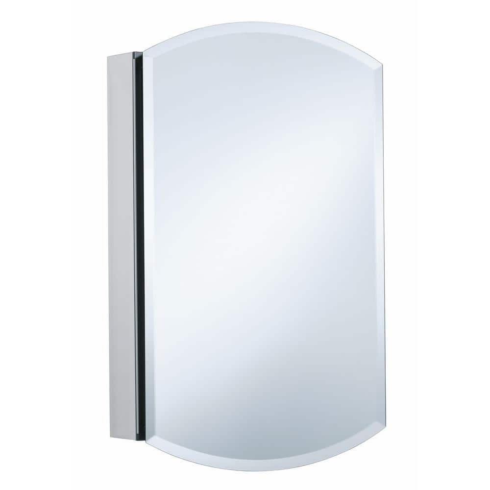 Kohler Archer 20 In W X 31 In H Single Door Mirrored Recessed Medicine Cabinet In Anodized Aluminum K 3073 Na The Home Depot