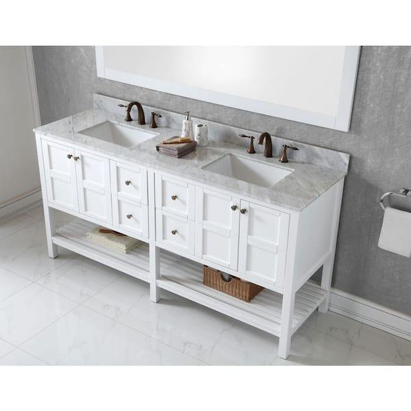 Virtu Usa Winterfell 72 In W Bath, 72 Inch Bathroom Vanity Top
