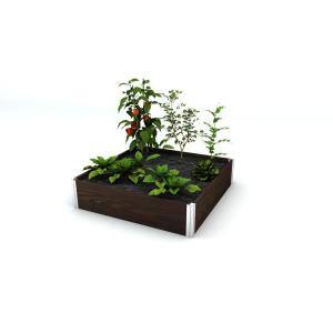 Urbana 48 in. x 48 in. x 11 in. Espresso Brown Vinyl Raised Garden