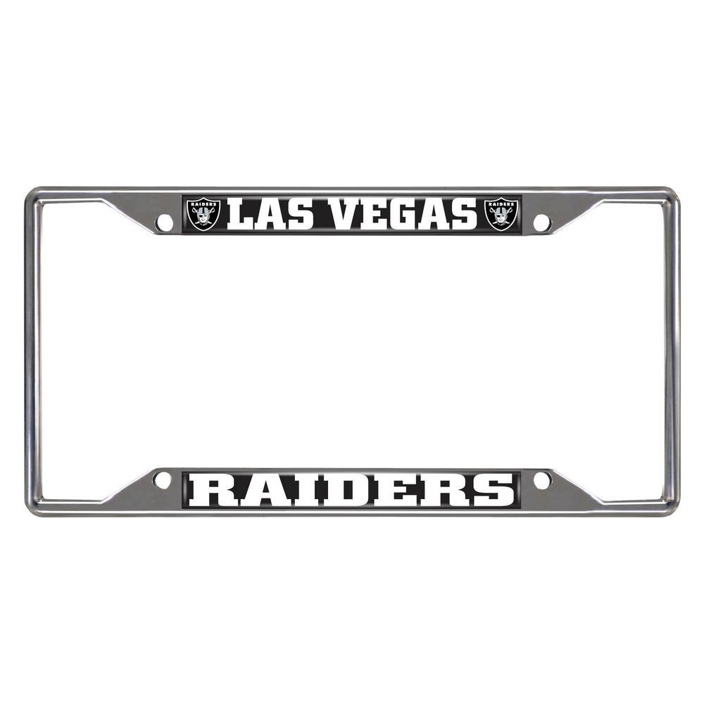 NFL - Las Vegas Raiders Chromed Stainless Steel License Plate Frame