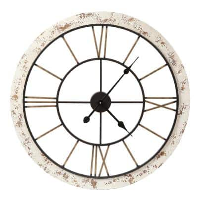 25 in. Dia. Iron and MDF Wall Clock