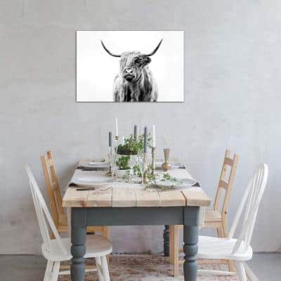 """Portrait Of A Highland Cow"" by Dorit Fuhg Canvas Wall Art"