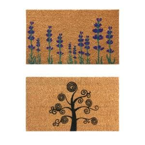 Dirt Stopper Doormats 18 in. x 30 in. Coir Entry Door Mats - 2 Pack