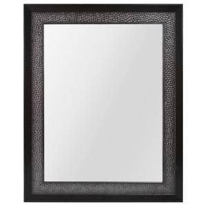 23 in. W x 29 in. H Framed Rectangular Anti-Fog Bathroom Vanity Mirror in Pewter and Espresso Finish