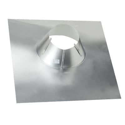 6 in. Aluminum Code Cap Base Vent Pipe Flashing