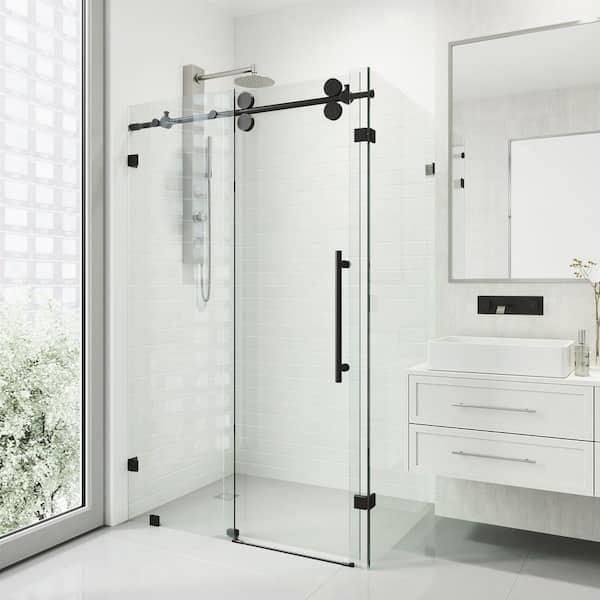 Vigo Winslow 47 In W X 74 H, Corner Shower Frameless Glass Doors