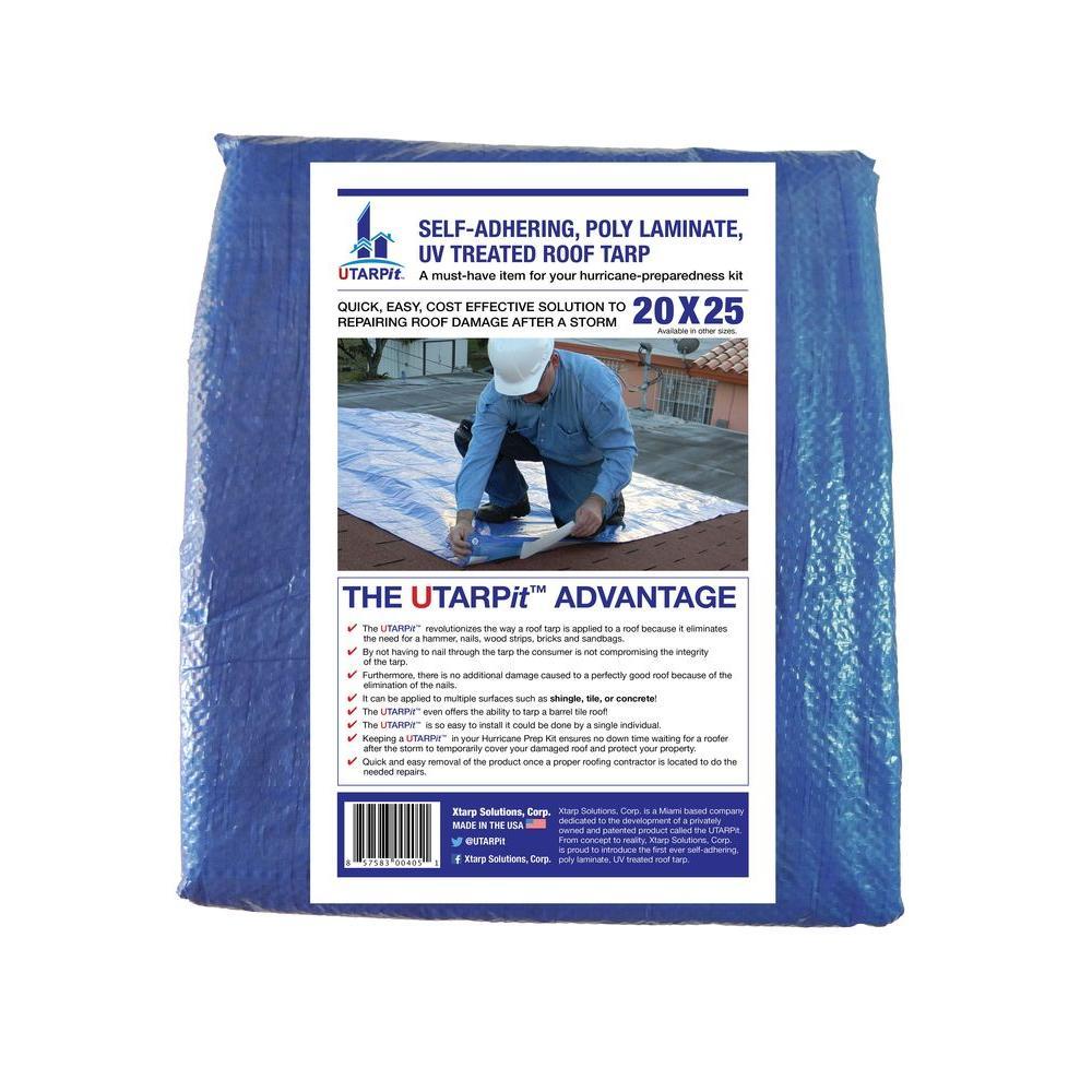 20 ft. x 25 ft. Blue Roofing Tarp