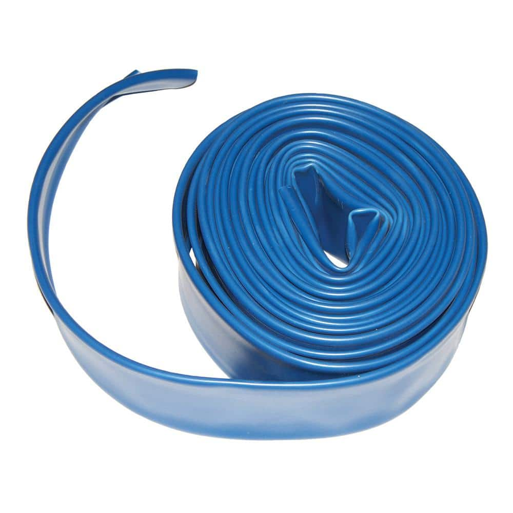 Plastiflex 2 In X 50 Ft Flat Backwash Hose With Clamp Ad2x50 The Home Depot