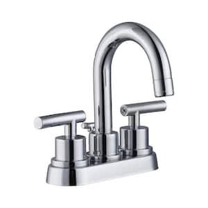 Dorset 4 in. Centerset 2-Handle High-Arc Bathroom Faucet in Chrome