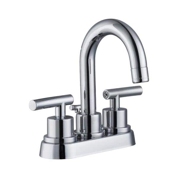 Glacier Bay Dorset 4 In Centerset 2 Handle High Arc Bathroom Faucet In Chrome Hd67730w 6b01 The Home Depot