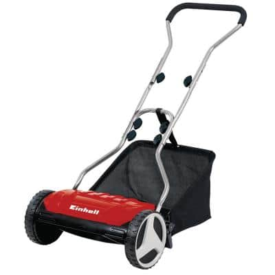 15 in. 5-Blade High-Quality Steel Reel Walk Behind Push Reel Mower, w/ 6.9-Gallon Collection Bag
