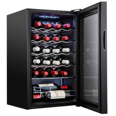 16.9 in. 24-Bottle Compressor Freestanding Wine and Beverage Cooler
