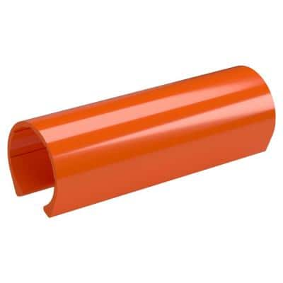 1 in. x 0.33 ft. Orange PVC Pipe Clamp Material Snap Clamp (10-Pack)