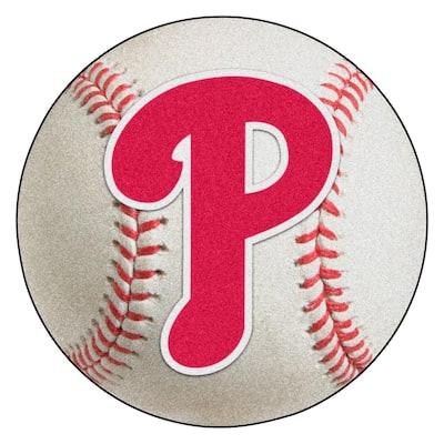 MLB Philadelphia Phillies Photorealistic 27 in. Round Baseball Mat